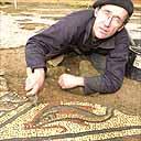 Откопали древнеримскую мозаику