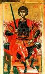 Великомученик Георгий Победоносец. Икона XVI в. Греция.