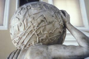 Звездный глобус на статуе Атланта Фарнезе