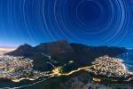 Следы звезд над Столовой горой