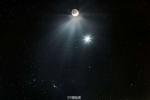 Комета встречается с Луной и Утренней звездой