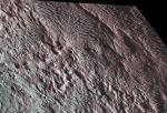 Пластинчатый рельеф на Плутоне: трехмерный вид
