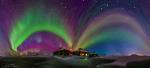 Северное сияние над Лапландией