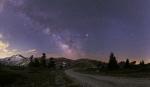 Млечный Путь и планеты вблизи противостояния