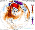 Холодная погода в Северной Америке откладывается