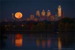Полная Луна в перигее над Филадельфией