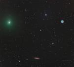 Комета, Сова и галактика