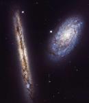 NGC 4302 и NGC 4298