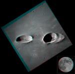 Кратеры Мессье на стереофотографии
