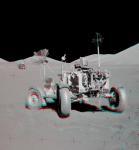 """Аполлон-17: стереофотография """"стоянки для особо важных персон"""""""
