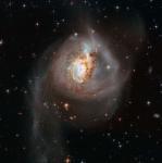 Столкновение галактик в NGC 3256