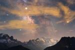 Монблан, метеор и Млечный Путь